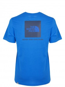 RED BOX T-SHIRT LOGO BLUE