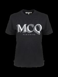 T-SHIRT LOGO MCQ PARADISE NERA