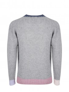 WOOL KNIT BEHIND THE LIGHT BLOSSOM GREY