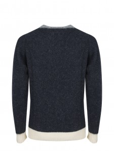 WOOL KNIT CAPTAIN HARRY CHARCOAL