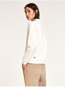 Stand-Up Collar Sweatshirt