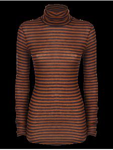 Stripped Turtleneck Shirt