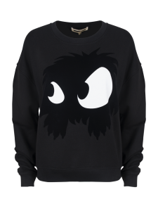 MCQ SLOUCH SWEATSHIRT DARKEST BLACK