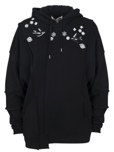 ERGONOMIC HOODIE DARKEST BLACK IVORY