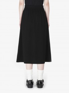 ELASTIC WAIST SKIRT DARKEST BLACK