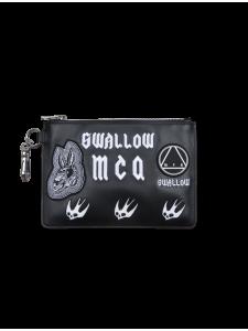 MCQ POCHETTE SWALLOW BLACK