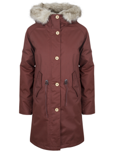 ELVINE FISHTAIL PARKA RED WINE