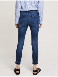 CROPPED WORKER LIGHT USED JEANS SLIM GRIGIO