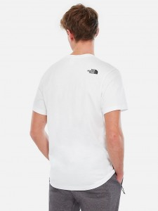 THE NORTH FACE FINE TEE WHITE BLACK