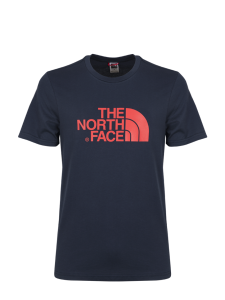 THE NORTH FACE EASY TEE URB NAVY FIERY RED