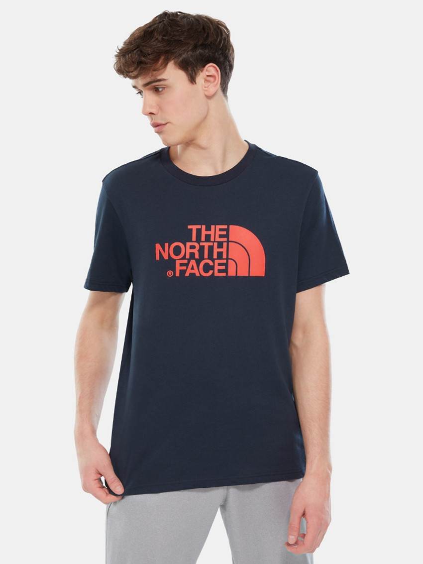69989ccc9 THE NORTH FACE EASY TEE URB NAVY FIERY RED