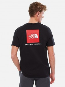 M RED BOX TEE BLACK