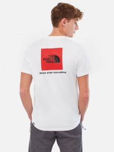 THE NORTH FACE RED BOX TEE WHITE