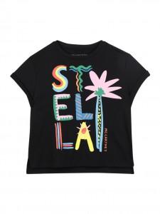 T-shirt black palm print