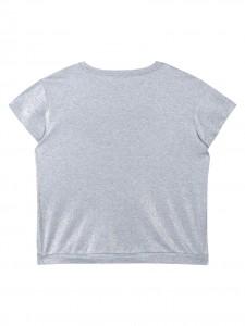 T-shirt lurex silver