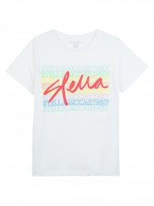 T-shirt white logo color