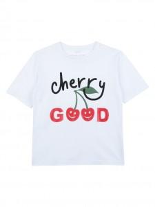 T-shirt white cherry good