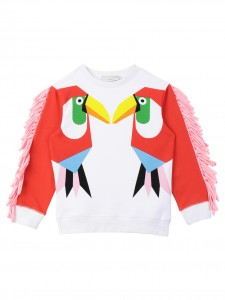 Felpa white toucan print