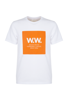 WW BOX T-SHIRT BRIGHT WHITE ORANGE