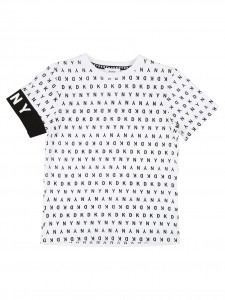 T-Shirt white letter black