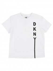 T-shirt white logo black