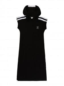 Vestito black con cappuccio