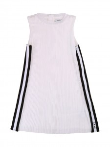 Vestito plissè white banda