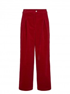 LUDOVINE VELVET TROUSERS RED