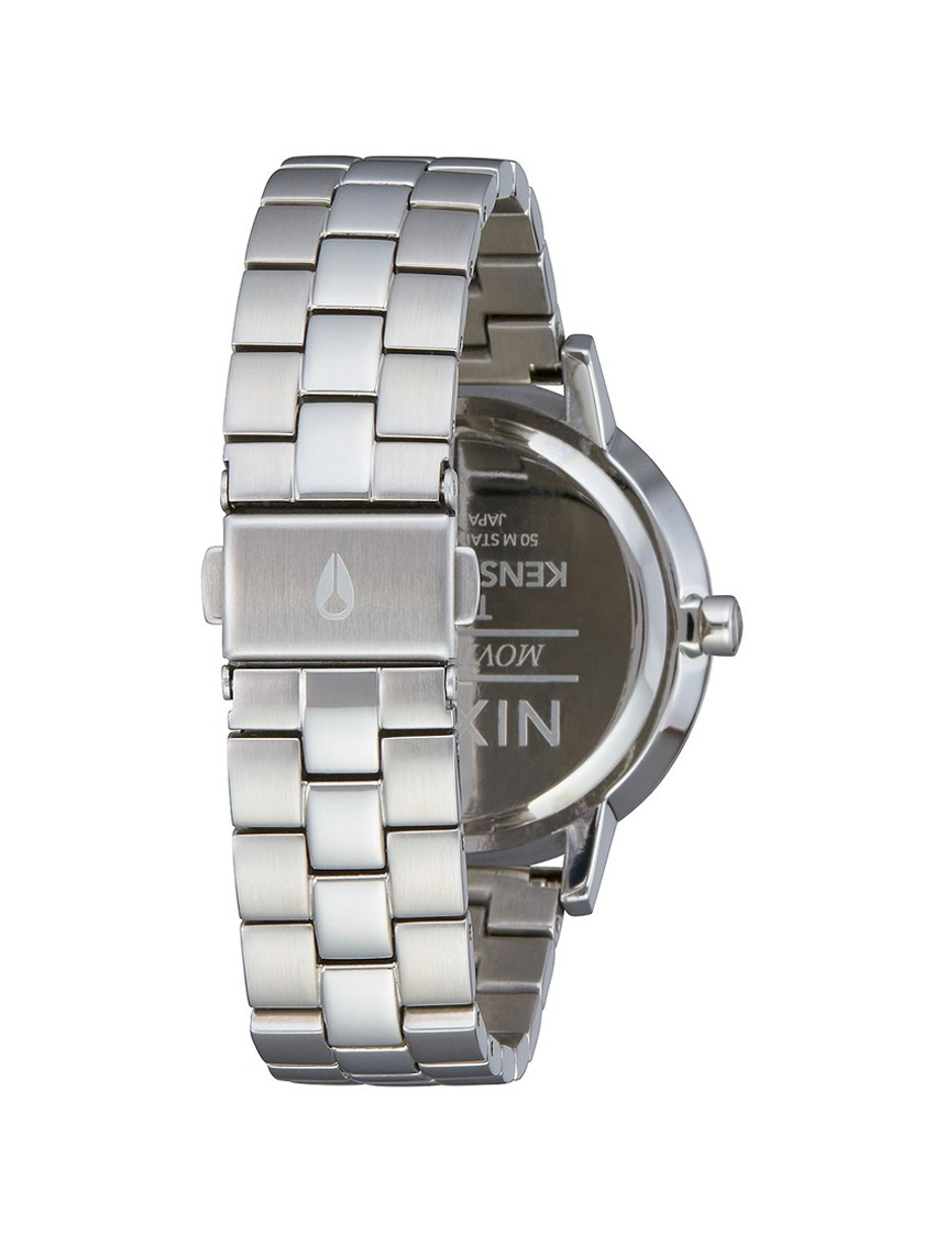 NIXON KENSINGTON WATCH SILVER LIGHT GOLD CRYSTAL