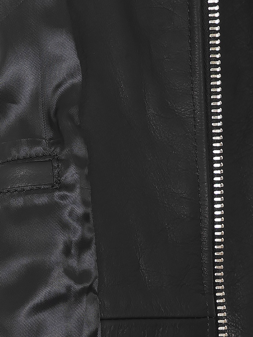 BOB - Giubbino vitellone nero zip