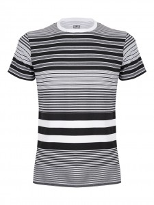 ED MIXED STRIPES SINGLE JERSEY T-SHIRT COTONE A RIGHE X NERA