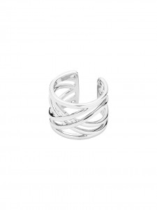 RING SILVER PLATED ADIJUSTABLE