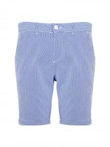 KLIT SHORTS BERMUDA RIGHE BIANCO BLUE