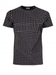 ED Factured DOT T-SHIRT BLACK POIS