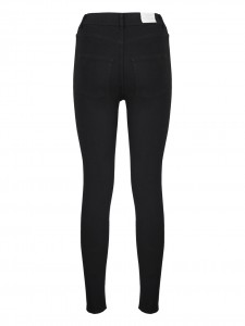 HIGH SPRAY BLACK JEANS SKINNY VITA ALTA