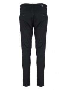 SLACK CHINO BLACK PANTALONE SLIM NERO