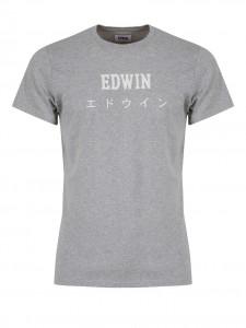 EDWIN JAPAN T-SHIRT LOGO GRIGIA