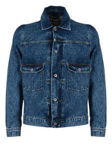ED CLASSIC JACKET 63 RAINBOW SELVAGE DENIM ACID WASH