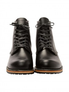 09014 BECKMAN ROUND BLACK STIVALETTO IN PELLE NERO