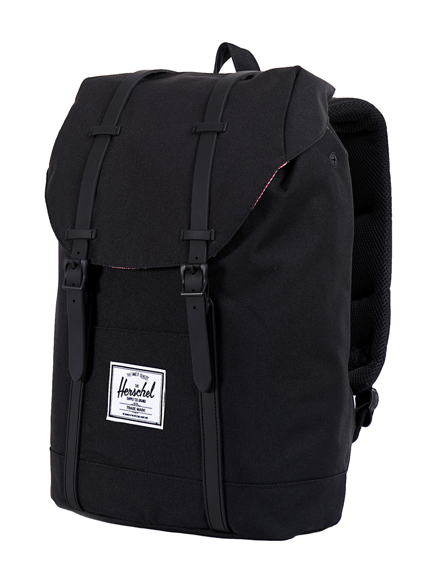 RETREAT BLACK BLACK ZAINO NERO