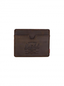 CHARLIE WALLET NUBUCK LEATHER PORTACARTE PELLE MARRONE