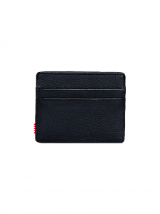 CHARLIE WALLET PEBBLED LEATHER PORTACARTE PELLE NERO