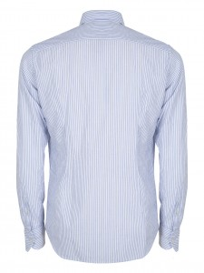 TEO TOWNA STRIPE CAMICIA CASUAL SLIM QUADRI BLUE